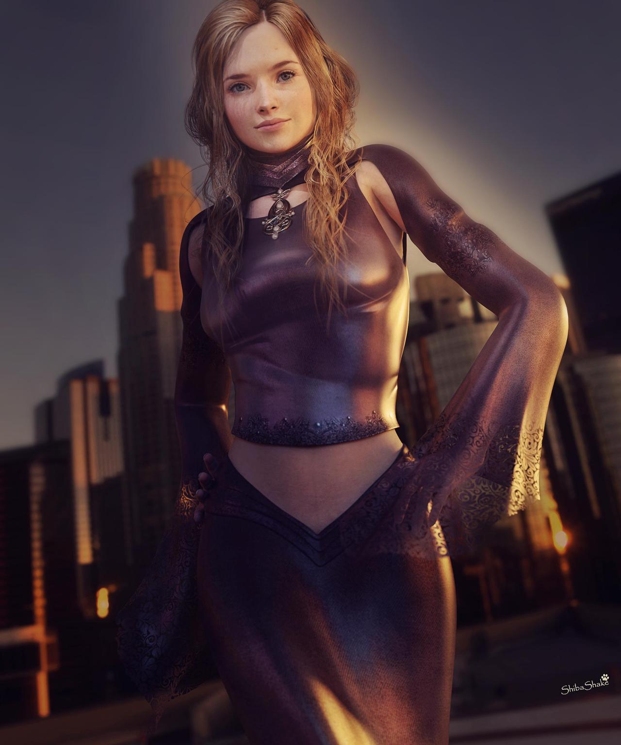 3d fantasy models city girl by shibashake