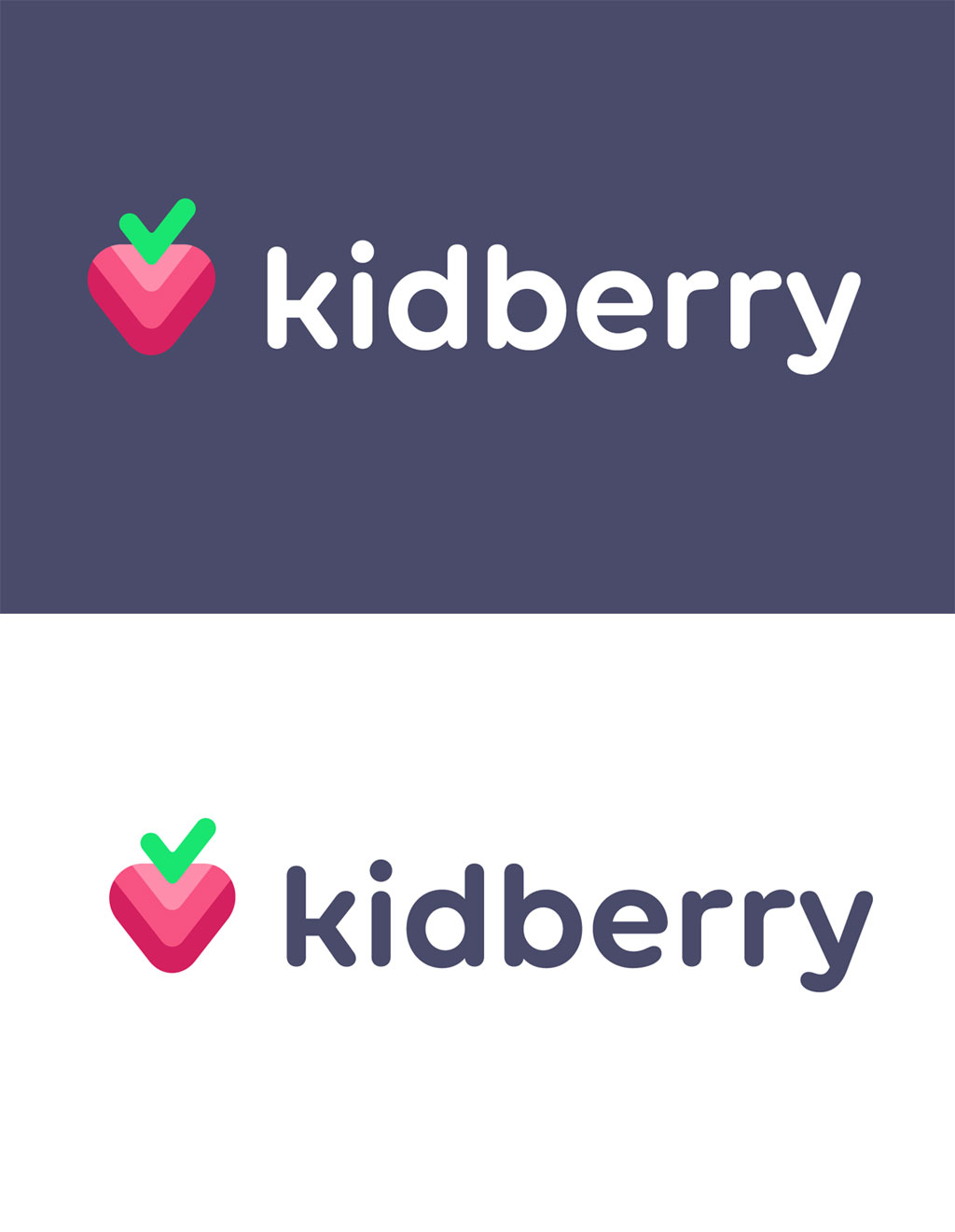 fruit logo design kidberry by sergey yakovenko