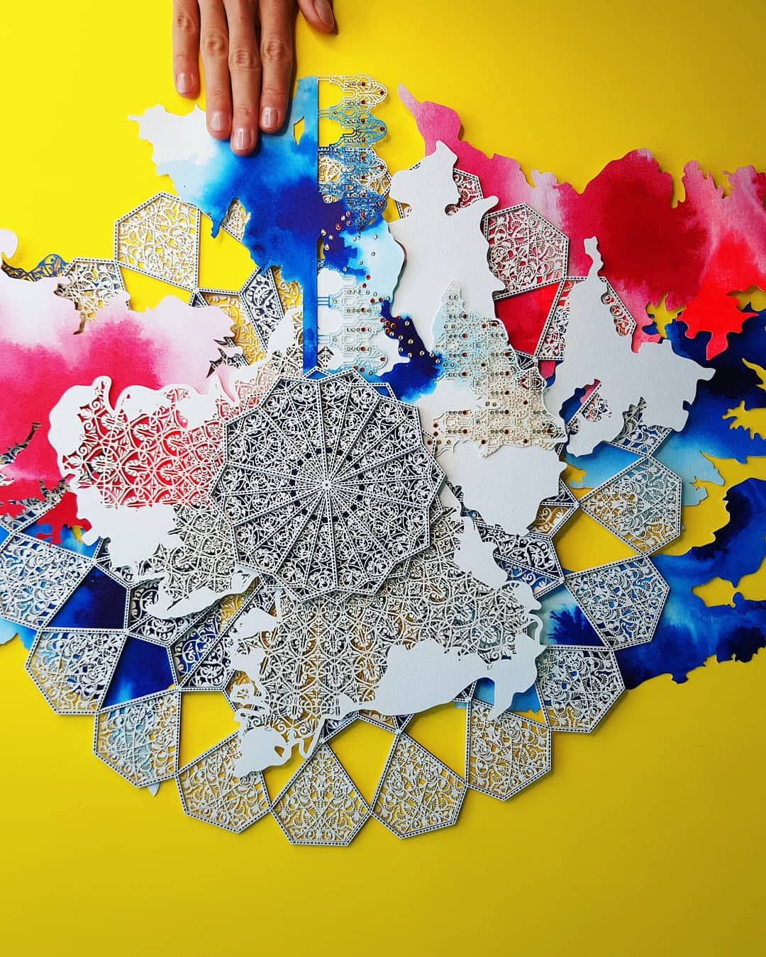 laser cut paper sculptures