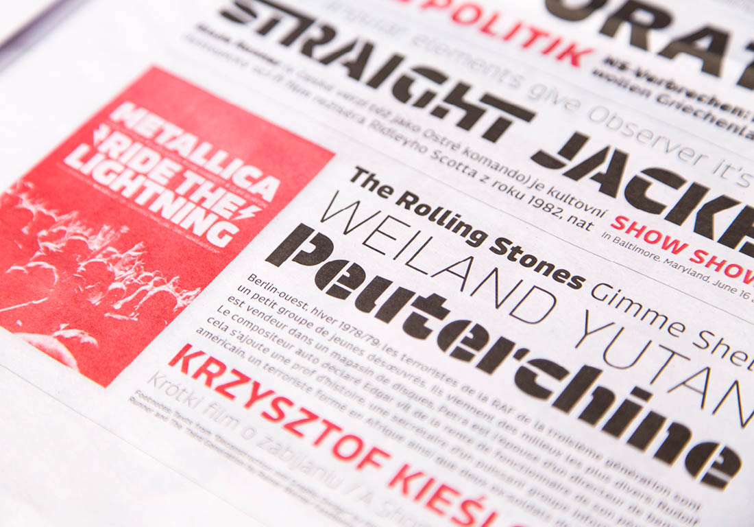 typography design newspaper font