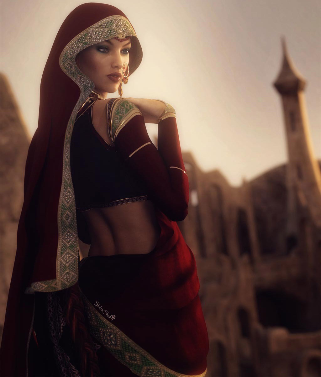 3d fantasy models indian beauty by shibashake