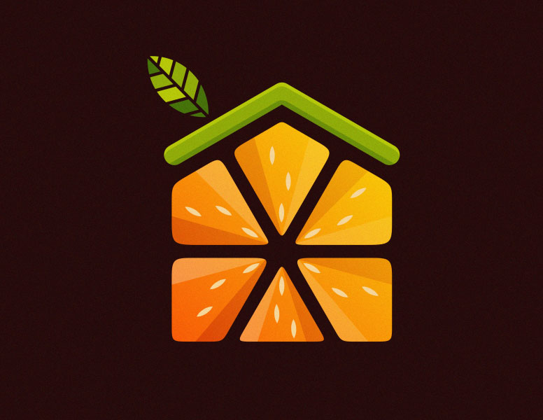 fruit logo design fruit home albert kalingga