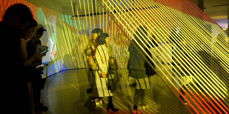 visitors at the lumen matrix exhibit china