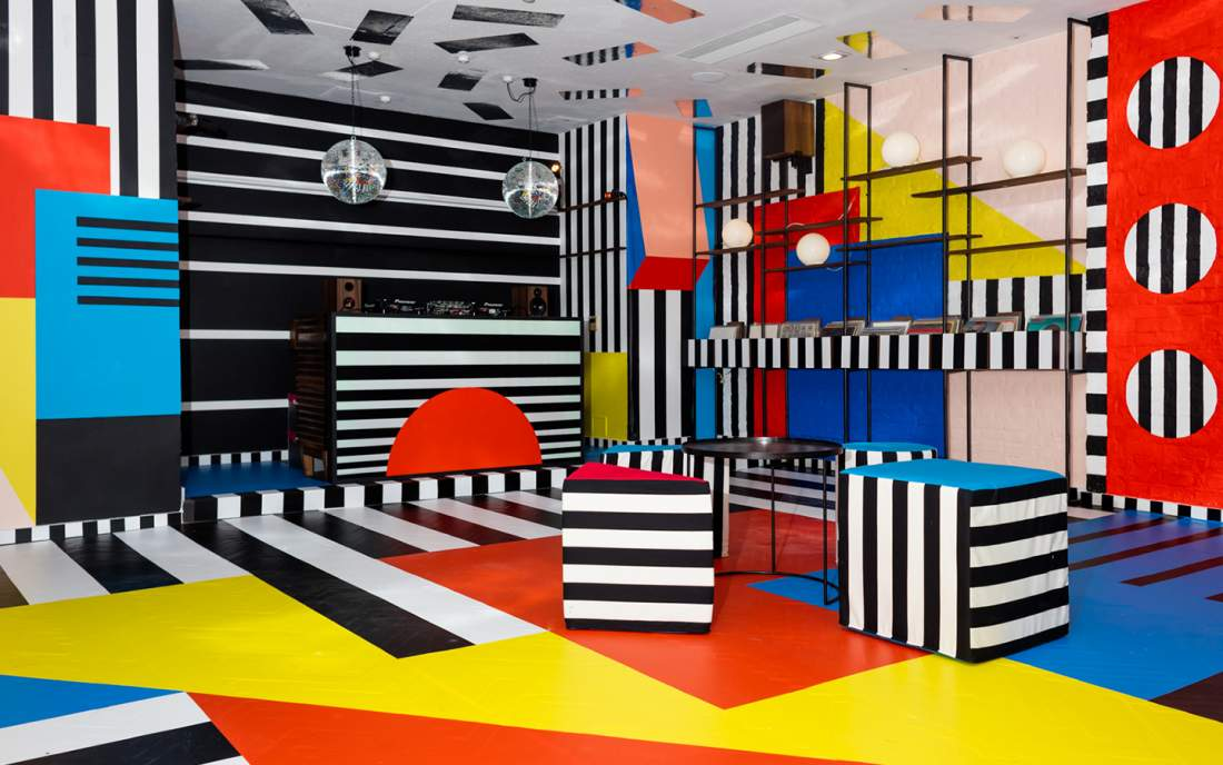 mural art work by camille walala