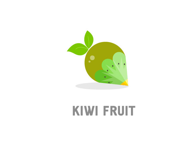 fruit logo design kiwi fruit by by xie mo