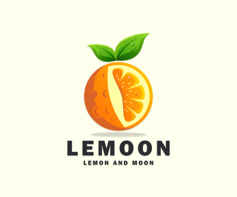 fruit logo design lemoon