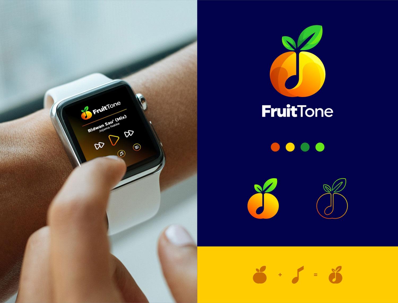 fruit logo design fruittone by kribbox