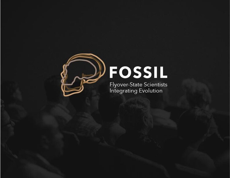 logo design fossil by oklahoma state university