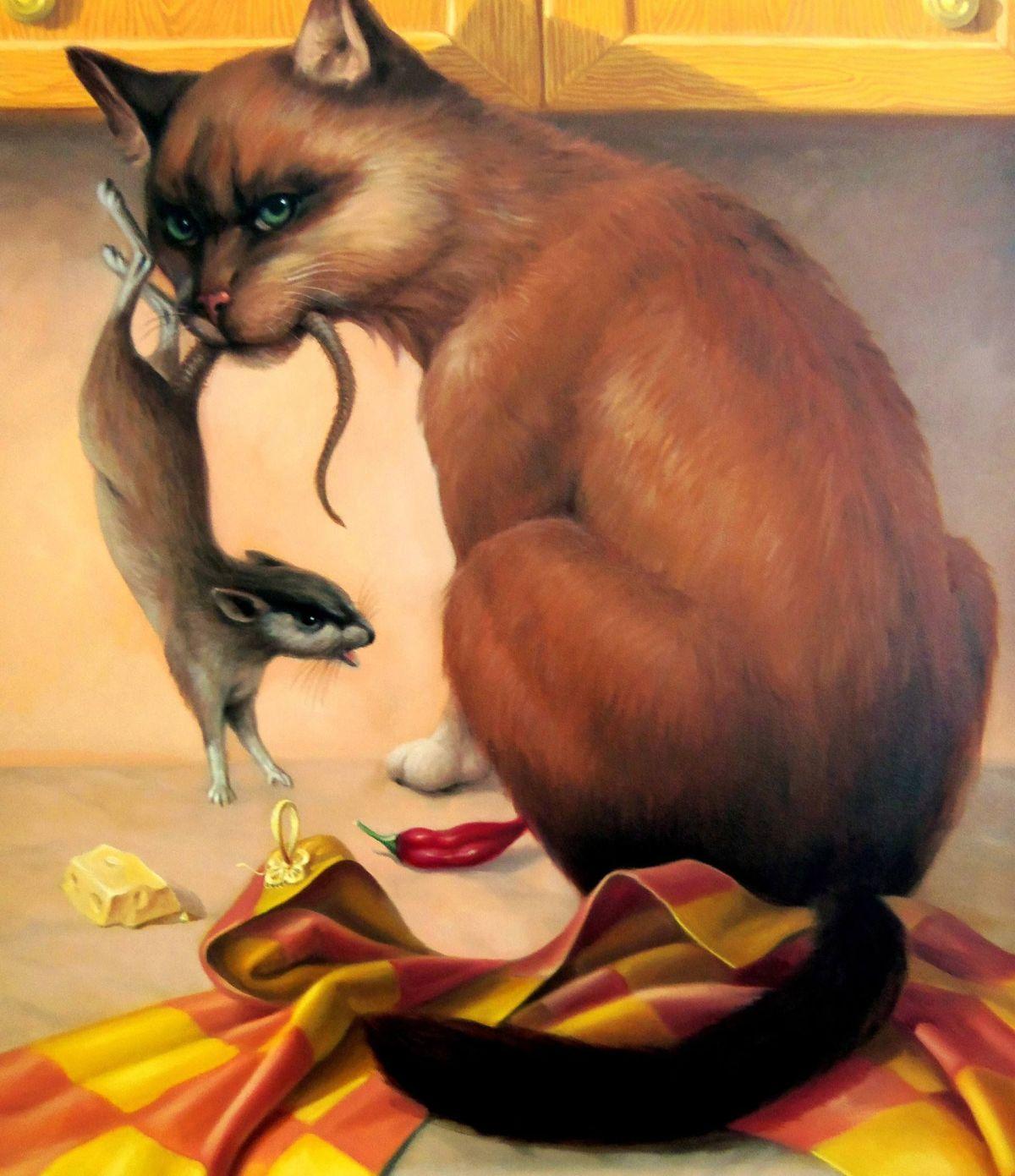 oil painting surreal by artush voskanyan