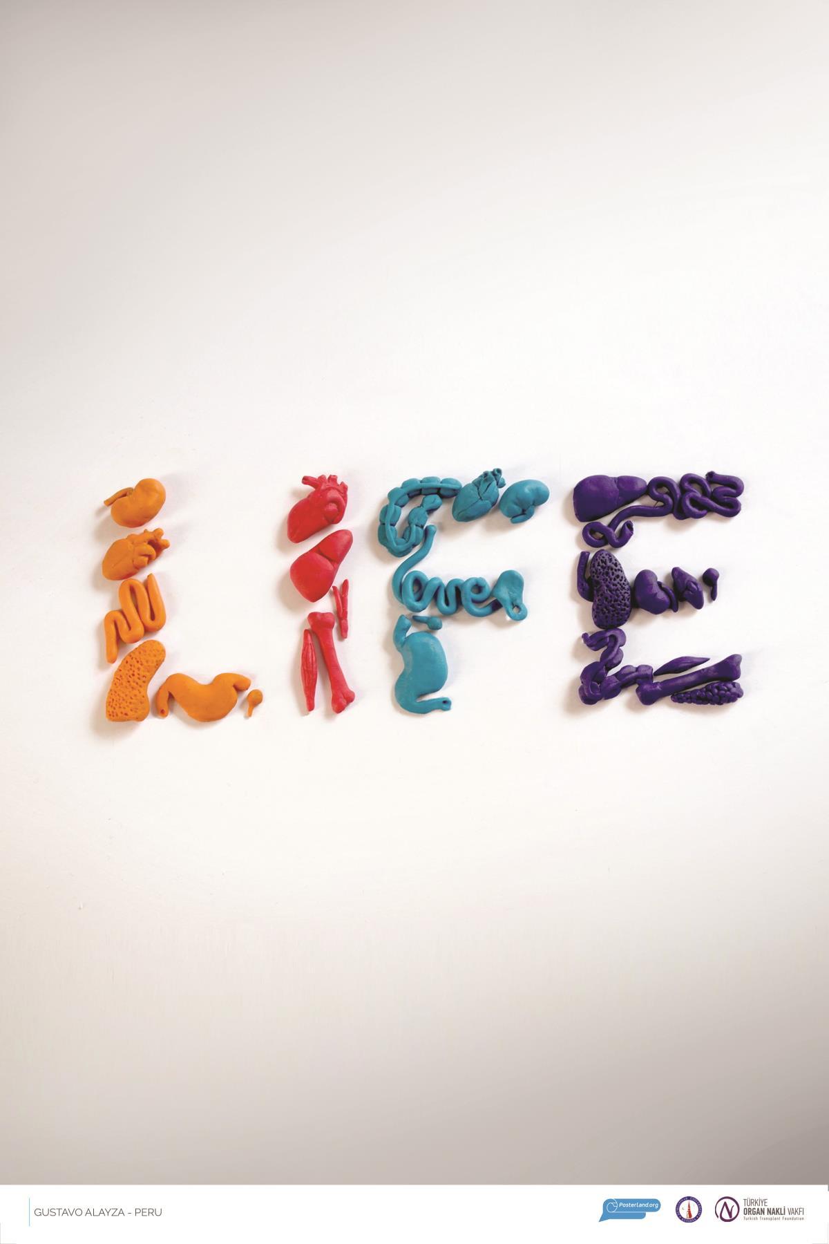 poster design donate organ life
