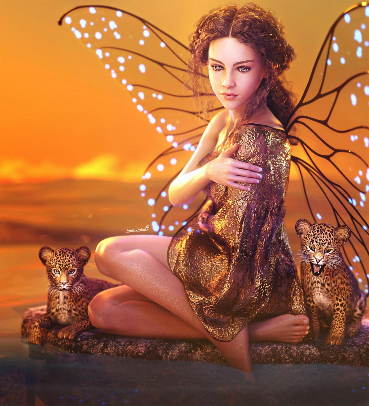 3d fantasy models butterfly girl by shibashake