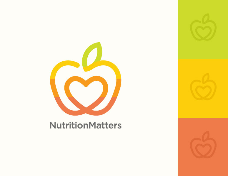 fruit logo design nutrition