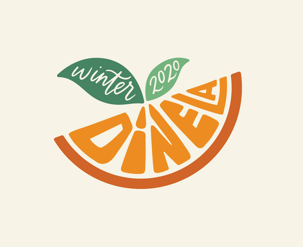 fruit logo design winter dinela