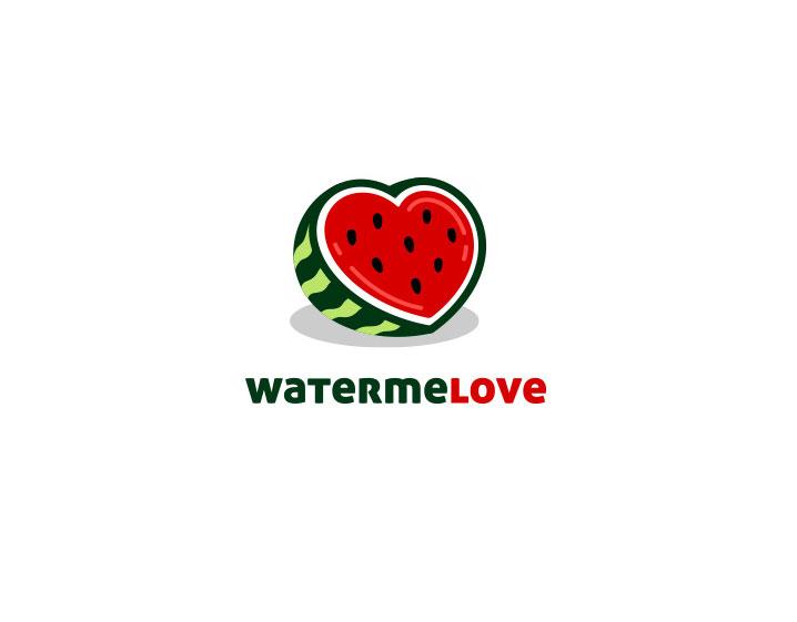 fruit logo design watermelove by daniel bodea
