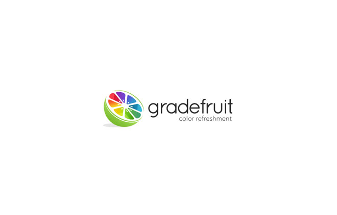 fruit logo design gradefruit
