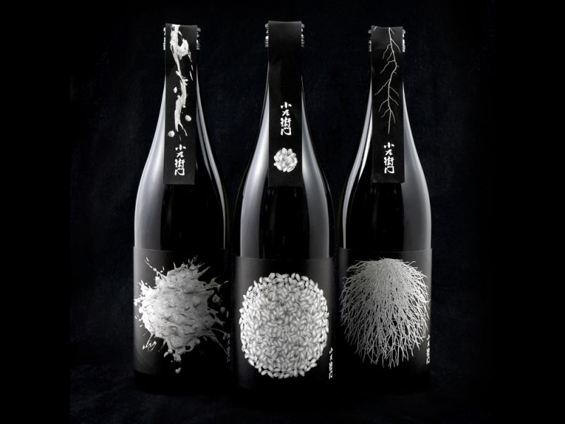 beverage packaging design of kozaemon by hajime tsushima