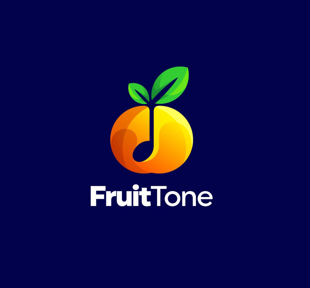 fruit logo design fruit tone