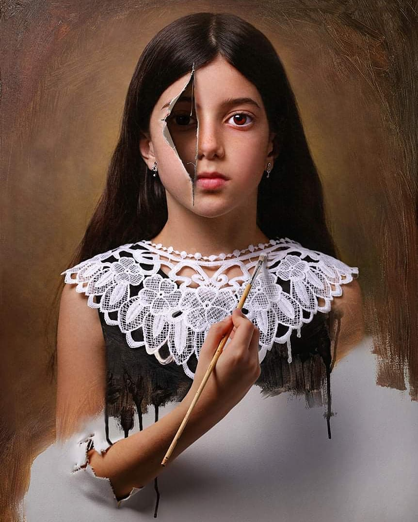 hyper realistic surreal painting artwork self paint by alexander sviridov