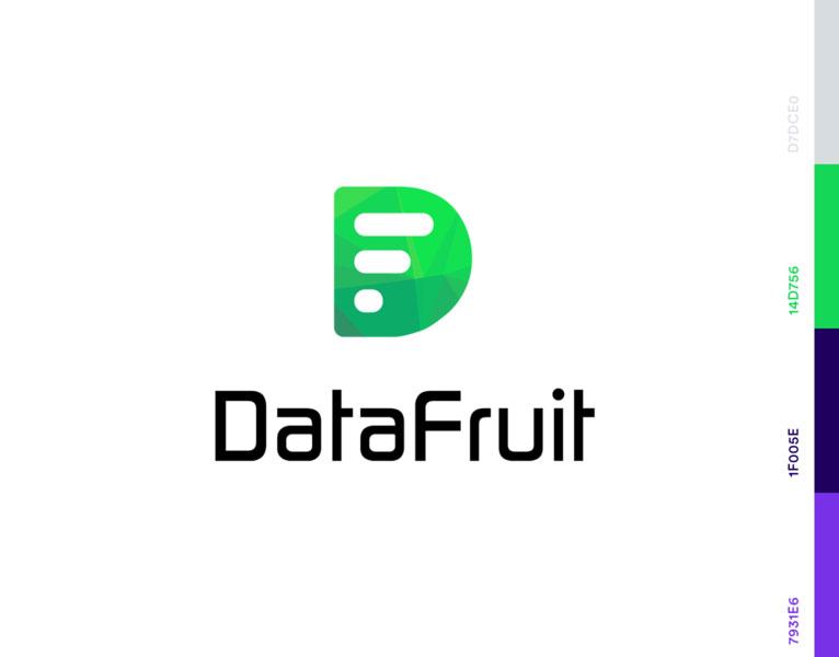 fruit logo design datafruit iftikhar shaikh