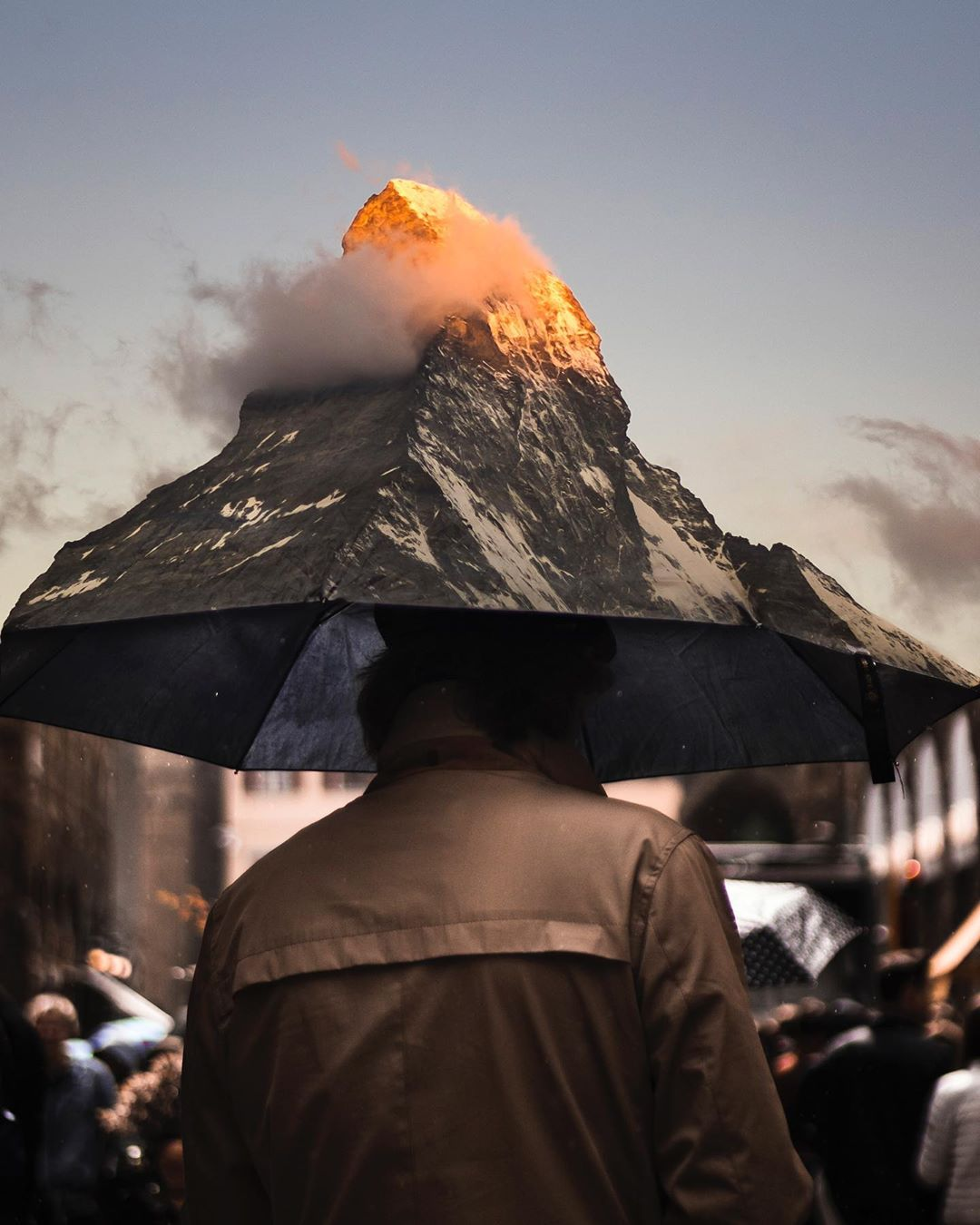photo manipulation volcano by justin peters