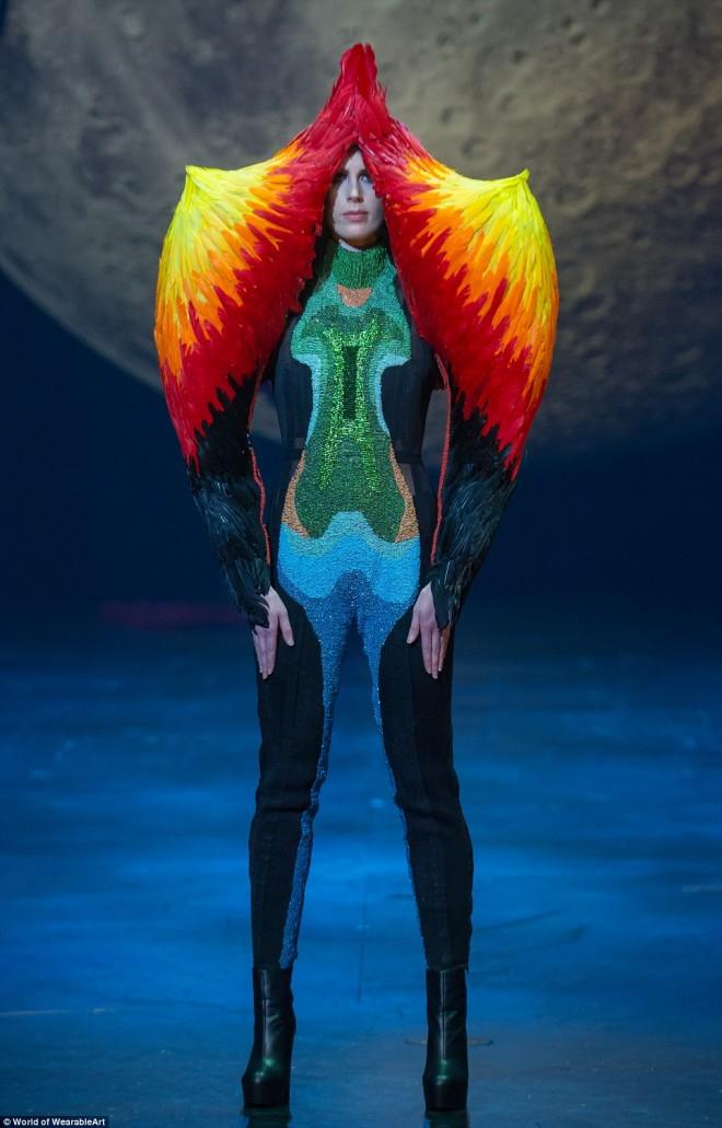 wearable art dress deadly beauty