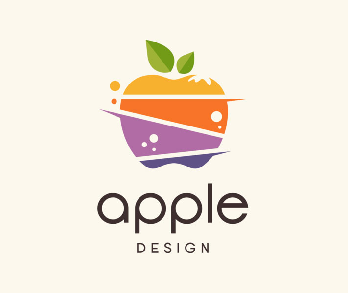 fruit logo design apple by faaza designs