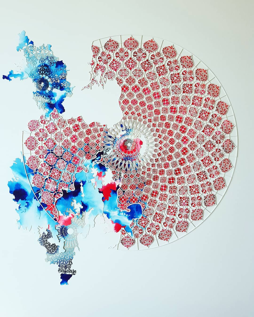 laser cut paper sculptures by julia ibbini
