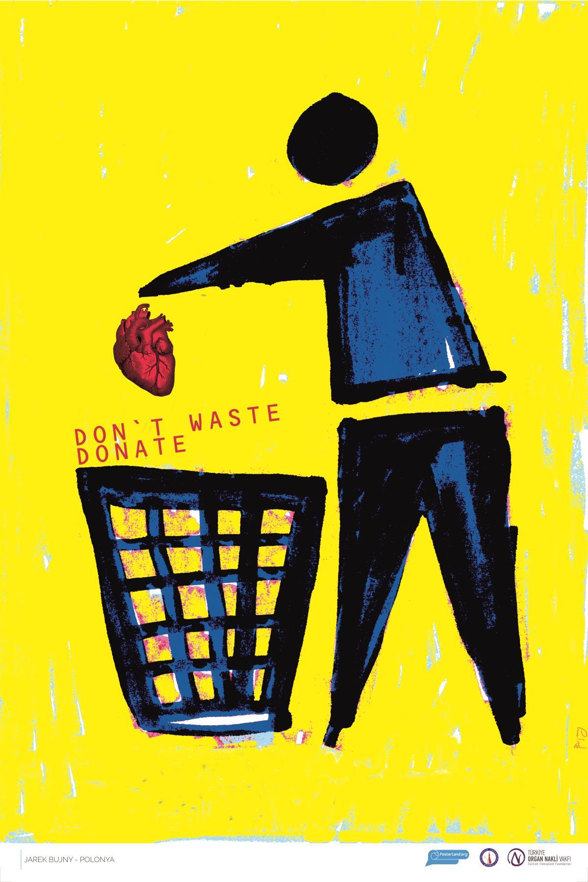 poster design donate organ kids painting