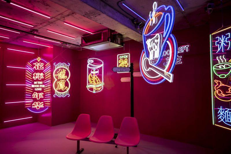 best design popup store light art