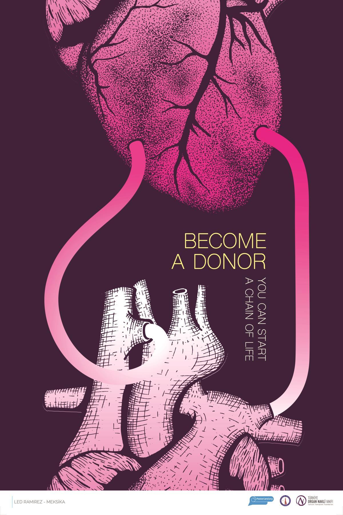 poster design donate organ