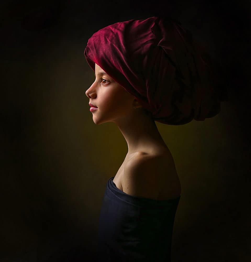 hyper realistic portrait painting artwork girl by alexander sviridov