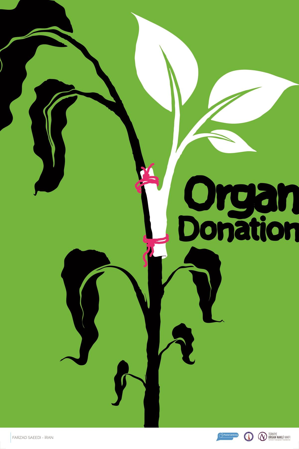 poster design organ donation by farzad sayeedi