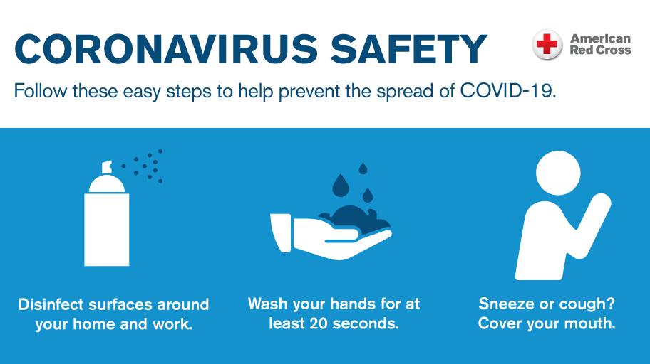illustration on safety measures from corona virus