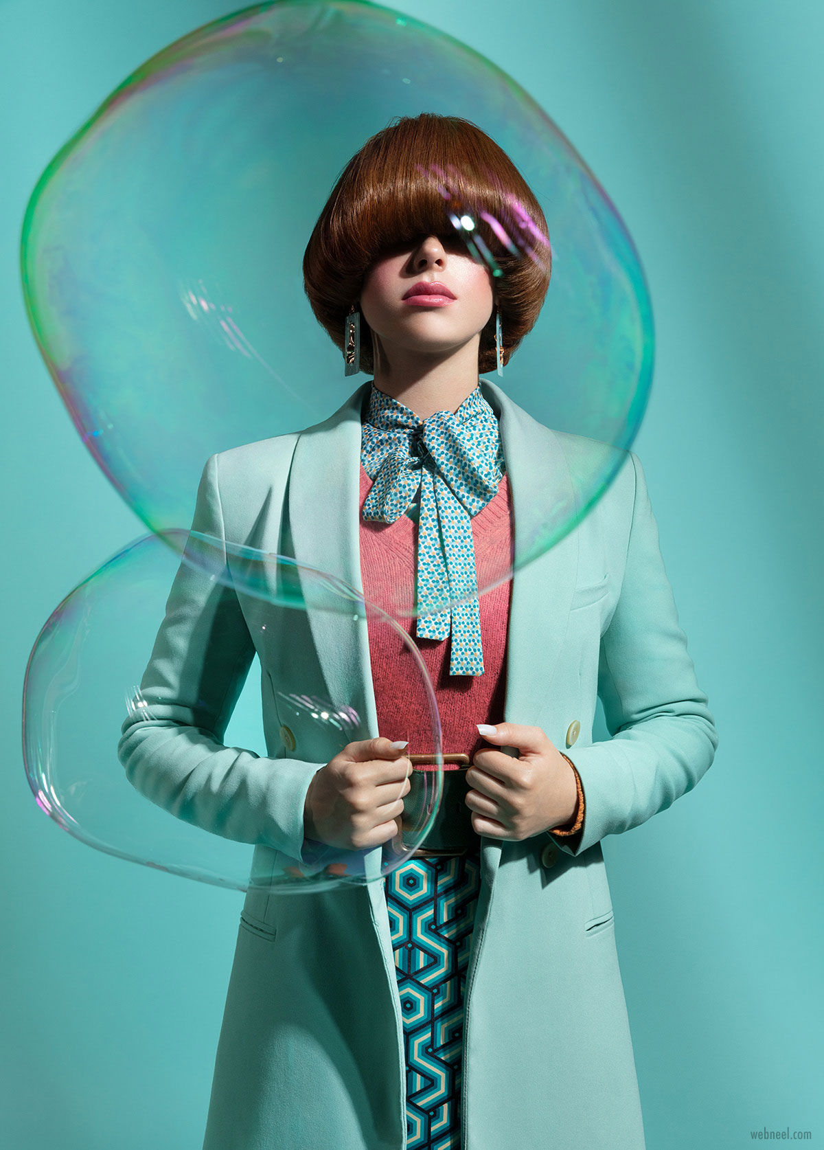 fashion photography bubbles by ahmed othman