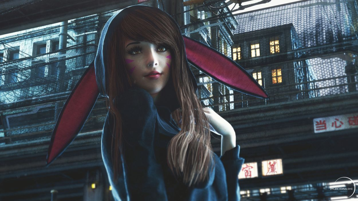 3d model character design hana song by dylan kowalski