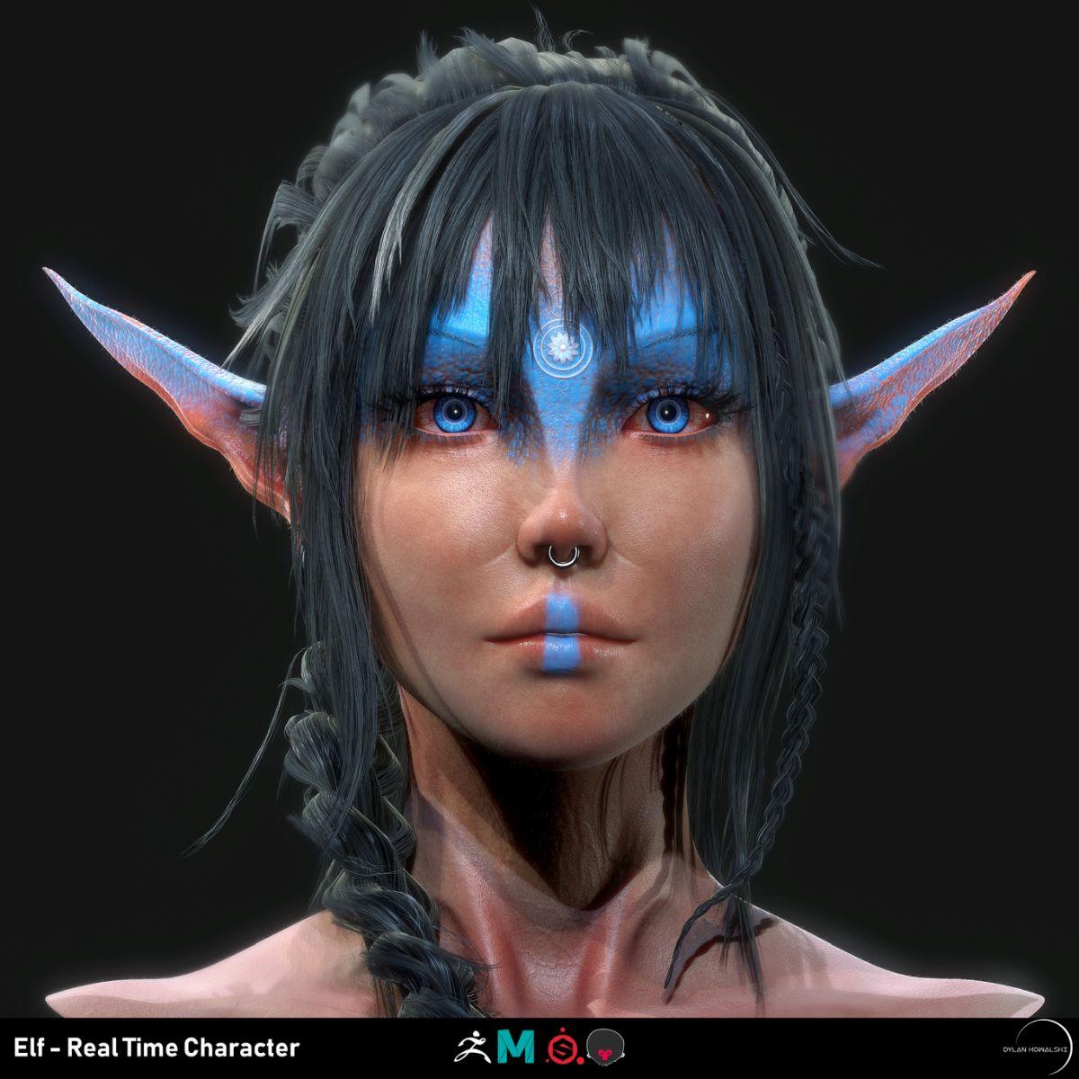 3d model character design elf