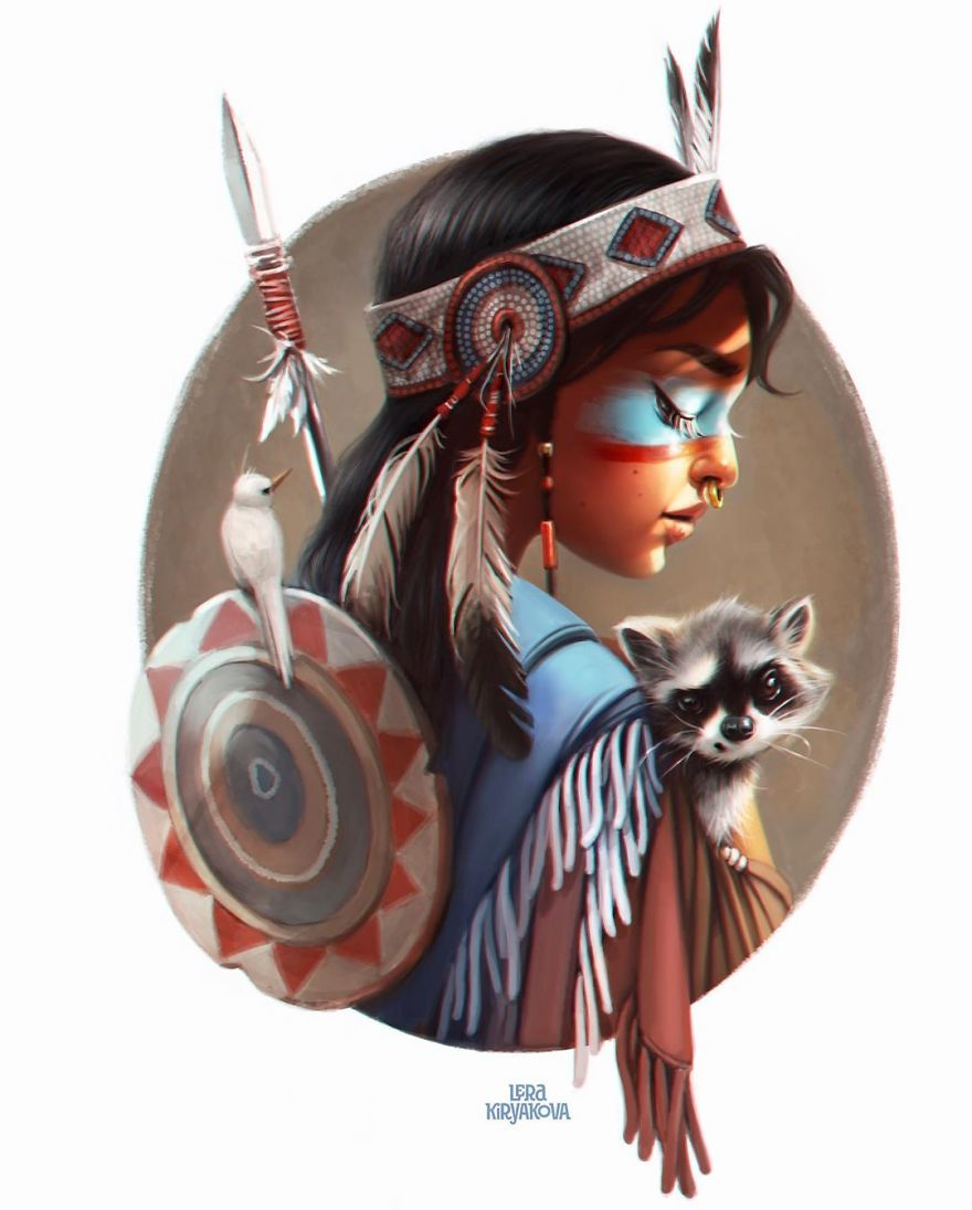 amazing character design by lera kiryakova