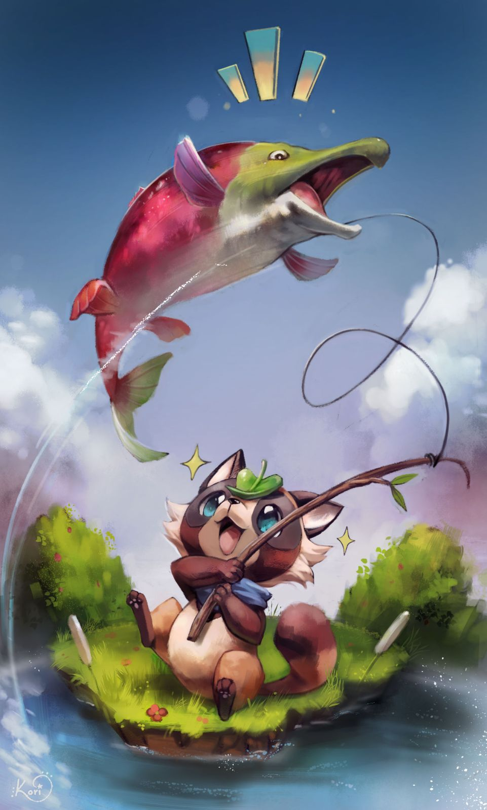 fantasy cartoon fishing