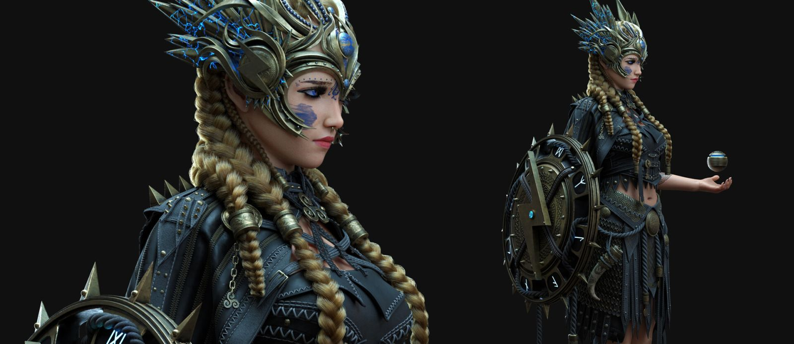 3d model character design valkyrie