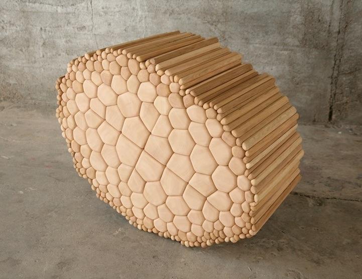 creative wooden art installation by ben butler