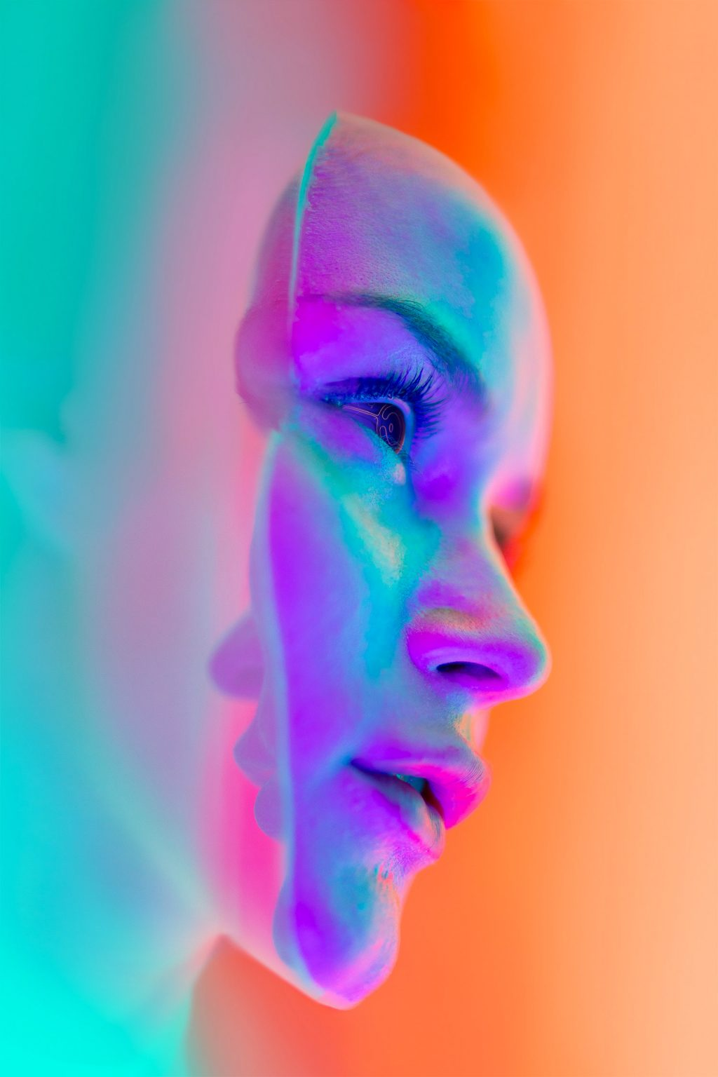 neon glow photography