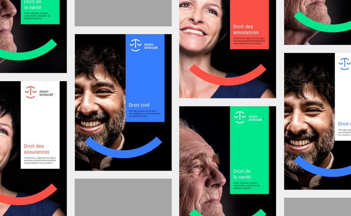 brand identity design of mon avocat by grapheine