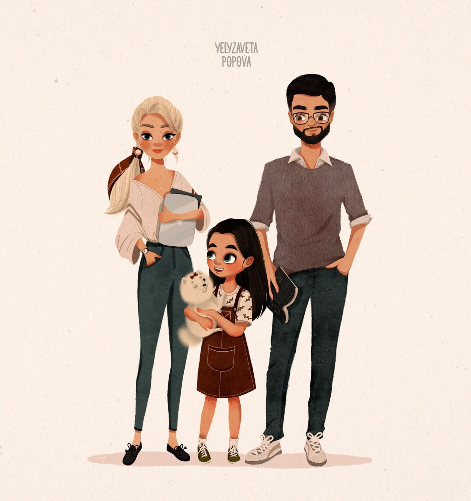 children book illustration family