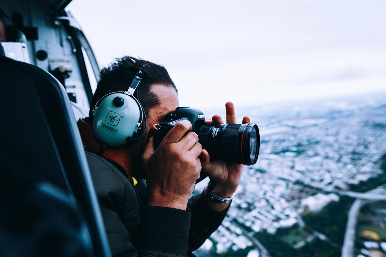 stunning photographer at work