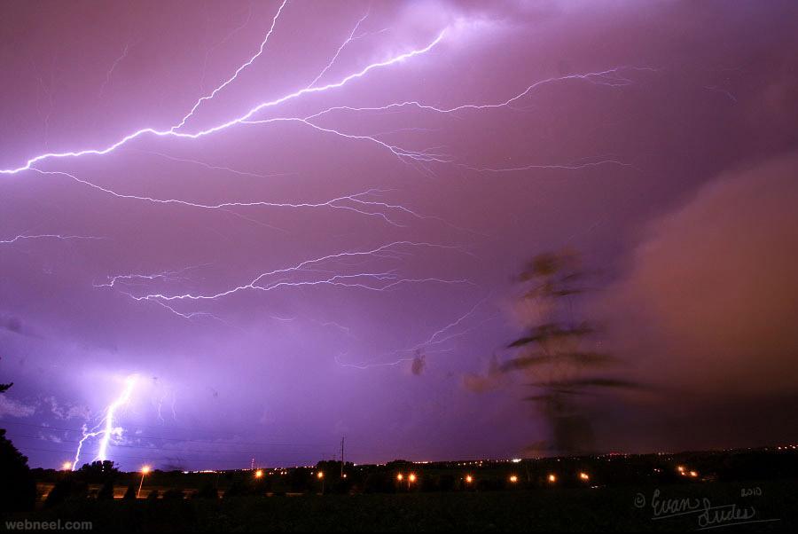 lightning thunder storm photography