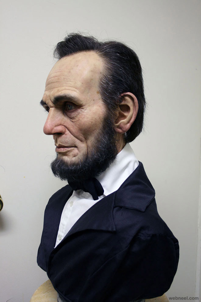 lincoln bust realistic sculpture