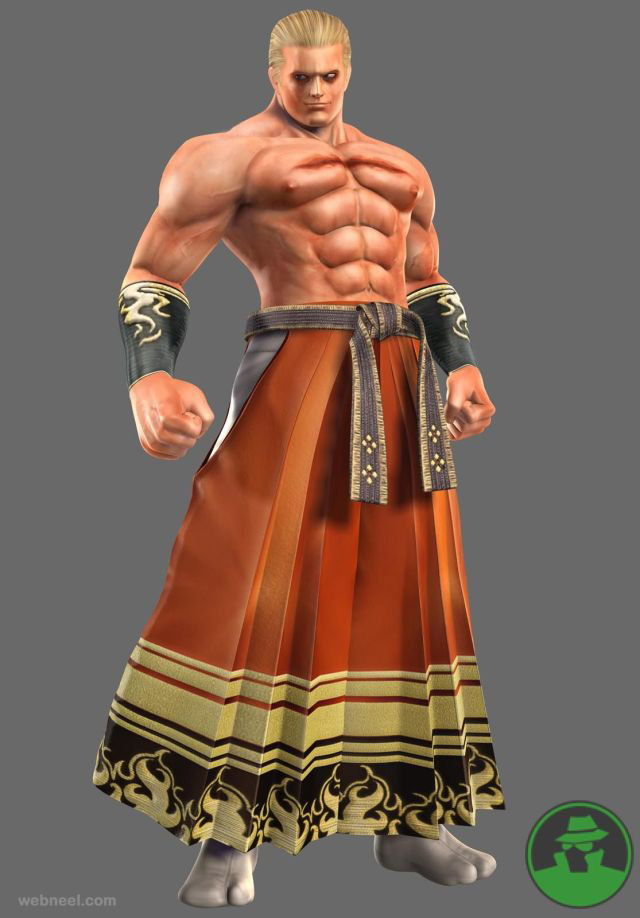 king fighter 3d game character