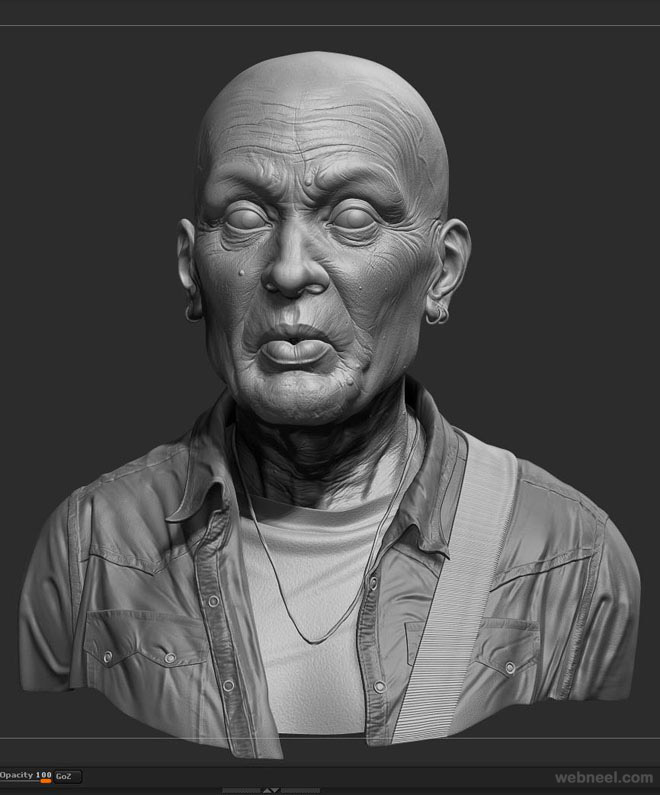 zbrush model by rodrigue pralier