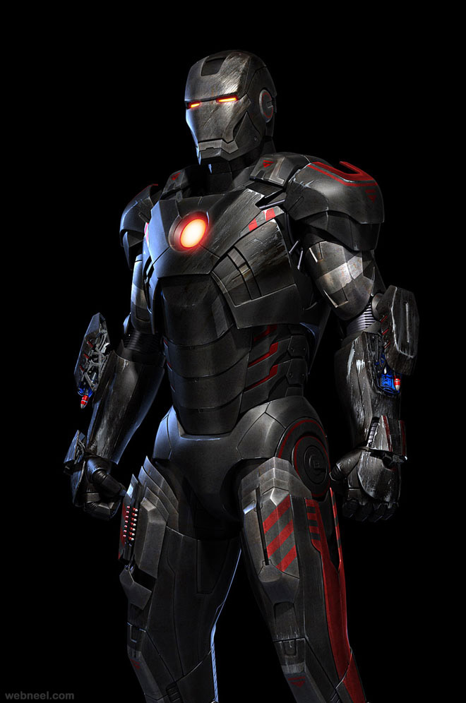 iron man 3d robot design