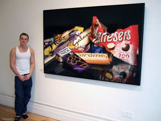 hyper realistic painting by tom martin